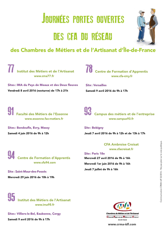 D couvrez les centres de formation d 39 apprentis cfa du r seau crma - Chambre des metiers essonne ...
